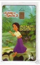 Carta telefonica Spagna  Disney Il Libro della Giungla 2 Shanti in blister