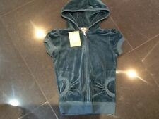 "NWT Juicy Couture New & Gen. Ladies Size Small Green Velour Hoody With ""J"" Pull"