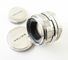 MC HELIOS 44M-4 Russian M42 Lens Zenit Camera SILVER WHITE EXC
