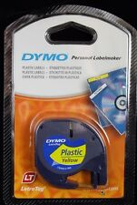 DYMO 12mm LETRATAG Tape label PLASTIC Yellow 4m