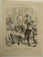 """7x10"""" punch cartoon 1857 THE EMPERORS AT STUTTGARDT russia & france"""