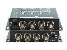 4x4 (4:4) Composite BNC Video Booster Extender Distribution Amplifier SB-2811