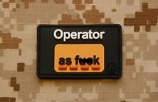 3D PVC Operator As F**k OAF Nation Morale Patch MARSOC Raiders USMC Hook Backing
