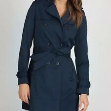 NWT WOMENS TOMMY HILFIGER NAVY BLUE TRENCH COAT WITH BELT SIZE S MSRP $269