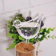 Glass Plant Flowers Water Feeders Self Watering Bird Design Plant Waterer