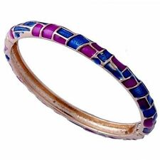D6451 Delightful Womens Yellow Gold Filled Enamel Band Bangle