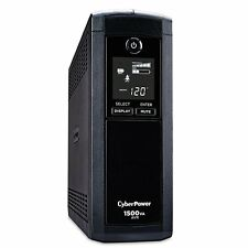 Cyberpower CP1500AVRLCD UPS, 1500VA/900W AVR 8-Outlet & USB UPS  BATTERY BACKUP