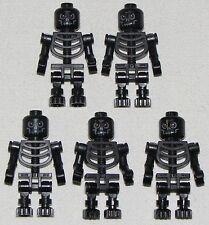 LEGO LOT OF 5 NEW BLACK FANTASY ERA WARRIOR SKELETONS MINIFIGURE FIGURES