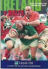 Ireland v Wales 3 Feb 2002 RUGBY PROGRAMME