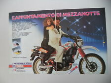 advertising Pubblicità 1984 MOTO YAMAHA XT 600 4V 4 VALVES