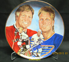 Bobby and Brett Hull Collector Plate from Gartlan USA, Limited Edition #2419