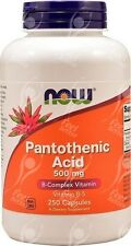 Pantothenic Acid Vitamin B5 - 500mgx250  * ACNE RELIEF*