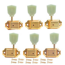 Or Deluxe Guitar Tuning Pegs Tuners bouton vert pour guitare Touches Mécaniques
