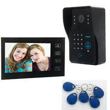 "7"" LCD Wired Video Door Phone Doorbell Intercom System IR Camera + Touch Keys US"