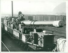 1940 Railway Rifle Enroute to Testing in Naples Original News Service Photo