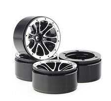 "ALIENTAC Four(4) 1.9"" Wide 1"" Alloy Beadlock Wheel Rim for 1/10 RC Model #004"