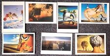 LOT OF 7 POSTCARDS OF PAINTINGS BY SALVADOR DALI
