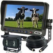 "FARM TRACTOR CAB BACK UP REAR VIEW CCD CAMERA VIDEO SYSTEM 7""REVERSE TFT LCD"