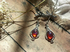 Dragonfly Dropped Dragon's Breath Earrings Stunning Fire SALE