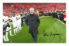 Sir Alex Ferguson Signed Autograph PP Photo Manchester United Champions 2012/13