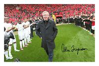 Sir Alex Ferguson Signed Autograph PP Photo Manchester United Champions 2012/13