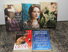 Philippa Gregory x5 Books Other Boleyn Girl Lad of River Queen's Fool Mrs Hartle