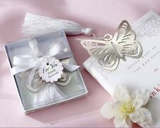 Hot Sale Cheap Magnetic Silver-Metal Butterfly Bookmark Wedding Favors 20 PCS
