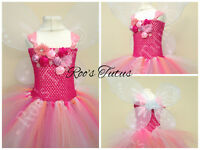 Rosetta Fairy (Tinkerbell) inspired tutu dress costume (Handmade). dress up