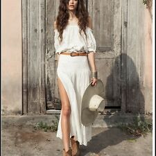 Spell & The Gypsy Collective Bambi Split Skirt Size: XS Color: White BNWT