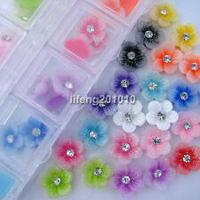 60pcs Resin Flower Rhinestones For Acrylic Nail Art Tips Cell phone Decorations