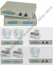 2way/port DB25 pin/wire AB Manual Data Switch Box,Parallel Printer/LPT Devi