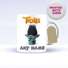 TROLLS CHARACTERS MUG CERAMIC PERSONALISED MUG COFFEE TEA CUP COOPER POPPY FILM