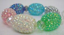 Stretchable Bead Bracelet Bold Modern Sparkle Bangle Bracelet -Multi-Color