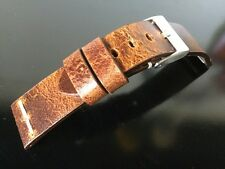22mm ColaReb ROMA  Vintage brown genuine leather watch strap band made in Italy