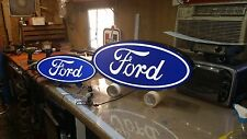 FORD OVAL LIGHT UP SIGN 24X8 INCH FREE SHIPPING