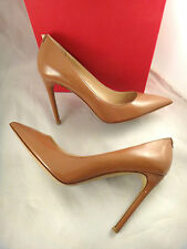 NIB Valentino Rockstud Dark Nude Patent Leather Classic Pointed Pumps 39 $695