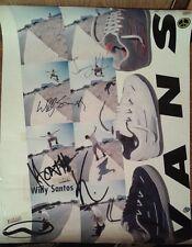 * Signed Autographed VANS SHOES Skateboarding Skateboard Willy Santos SK8 POSTER