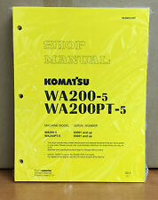 Komatsu WA200-5H, WA200PT-5H Wheel Loader Shop Service Repair Manual
