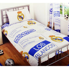 REAL MADRID FC DUVET PILLOW CASE QUILT COVER SINGLE CHARACTER BEDDING SET PT CF