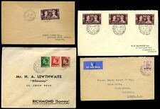 MOROCCO AGENCIES + TANGIER 1937-49 + AIRMAIL...4 COVERS