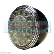 12V/24V VOLT LED REAR ROUND HAMBURGER REVERSE LAMP LIGHT CARAVAN/TRAILER/TRUCK