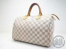 AUTH PRE-OWNED LOUIS VUITTON LV DAMIER AZUR SPEEDY 30 BOSTON BAG N41533 162195