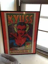 KYUSS Frank Kozik Screen Print Poster Framed 329/600 Signed 95' fu manchu