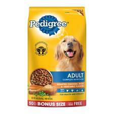 Pedigree Adult Complete Nutrition Chicken Flavor Dry Dog Food, Bonus Size 50 lb
