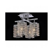 Crystal Ceiling Chandelier Chrome Bath Bed Room Foyer Entryway Hanging Lighting