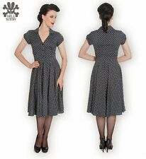 FAB Hell Bunny 1940s Swing Dress Polka Dot Goodwood Garden Party WW2 SZ 20 3XL