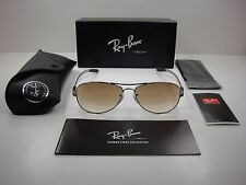 RAY-BAN TECH SUNGLASSES RB8301 004/51 GUNMETAL/BROWN GRADIENT LENS NEW! 56MM