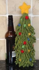 KNITTING PATTERN - Christmas Tree Wine Bottle Cover Novelty