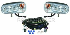 Universal SnowPlow Lights with vehicle wire harness.
