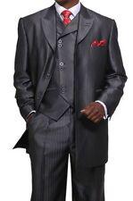 Men's 3 piece Luxurious Suit Wool Feel Herring Bone Stripe  Style  M-5264V